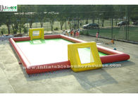 China Giant Inflatable Football Field Inflatable Games For Adults Children company