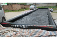 China Water Sports Long Large Inflatable Pool with 0.9mm PVC Tarpaulin , Black factory