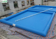 China Blue Large Inflatable Water Pools For Adults, Outdoor Inflatable Swimming Pools factory