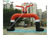 China Huge Inflatable Santa Claus Arch with 1st Class PVC Coated Nylon factory