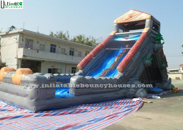 Halloween Haunted Water Slide Bounce House Kids Inflatable Pool Slide