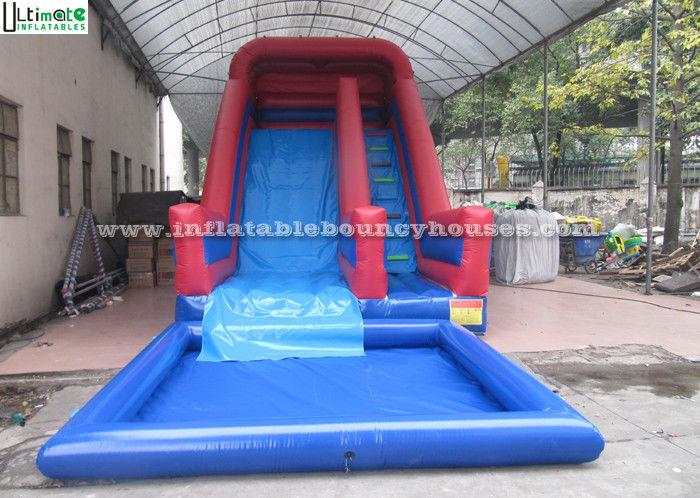 Vordere lasts gro e kommerzielle aufblasbare wasserrutsche mit pool f r kinderspa im freien - Wasserrutsche fur pool ...