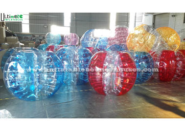 Colorful Soccer Inflatable Bubble Ball , Adults Inflatable Bumper Ball