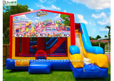 7 In 1 Kids Shopkin Inflatable Bounce Houses With Basketball Hoop N Obstacles Inside