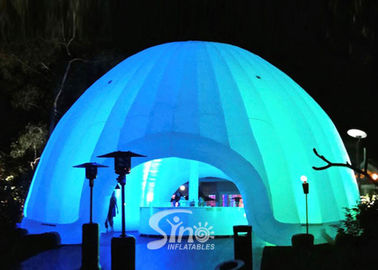 China 8m dia. trade show led light inflatable dome tent made of best pvc coated nylon factory