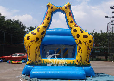 China Little Kids Indoor Blue Mini Giraffe Inflatable Jumper For Party Game factory