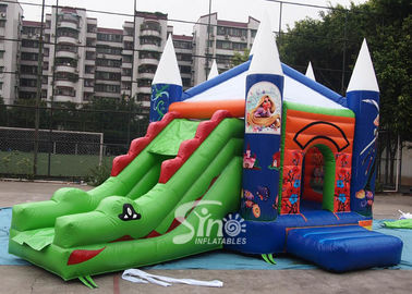 China 5in1 commercial grade kids crocodile inflatable combo game with slide for outdoor used factory