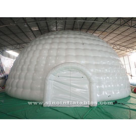 China 12m Giant Blow Up Hot Seal White Inflatable Igloo Dome Tent With 0.6mm Pvc Tarpaulin Material factory