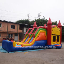 China 4 In 1 Amusement Park Inflatable Bounce Houses Rentals EN14960 Approvals factory