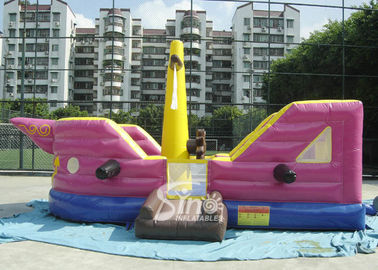 China 7x4 meters children pirate ship inflatable bouncer with EN14960 certified made of lead free material factory