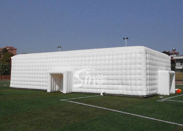 China 20x10m outdoor white giant inflatable cube tent for wedding parties made of best material from Sino Inflatables factory