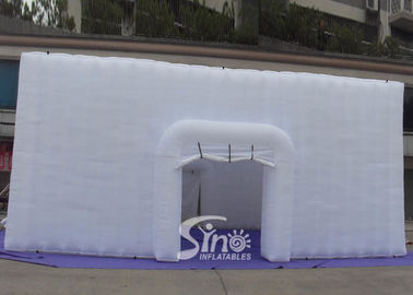 China 11x11 m big party or event inflatable cube tent with 4 doors made of best pvc coated nylon factory