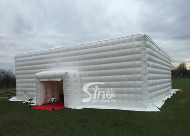 China 15x15 meters outdoor big white music party inflatable cube tent with 2 doors for events factory