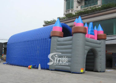China 20x7 mts grand castle inflatable tunnel tent for outdoor parties or activities factory