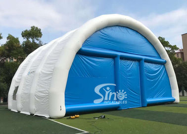China 15m X 15m White N Blue Large Airtight Inflatable Wedding Party Tent With Best Material From China Inflatable Factory factory