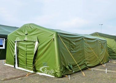 China Mobile Emergency Isolation Rescue Army Green Inflatable Military Tent For Outdoor Equipment factory