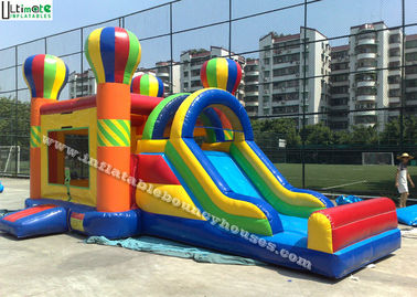 4 in 1 Rainbow Commercial Inflatable Bounce Houses Jump N Slide Bouncer