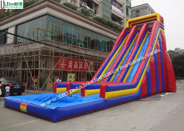 10 Meters High Giant Inflatable Water Slides For Adults , Big Water Slide Bounce House