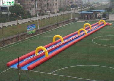 Custom Inflatable Slip And Slide / Slide The City Water Slide 300M Long