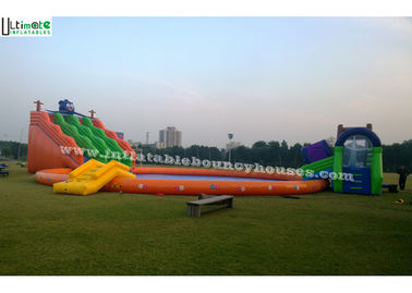 Giant Inflatable Water Park N Water Slide With Big Inflatable Pool For Adults