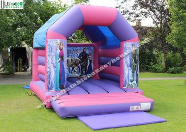 OEM ODM Purple Kids Frozen Bouncy Castle Made Of 0.55MM PVC Tarpaulin