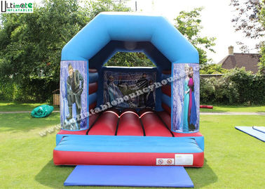 Eco Friendly Child Big Frozen Jumping Castle With Roof For Parties