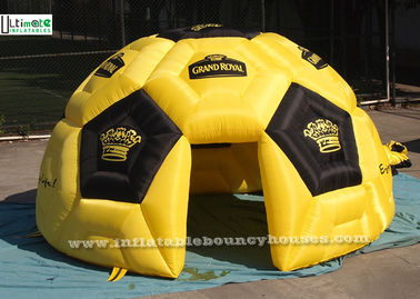 Yellow Football Shape Air Inflatable Tents For Outdoor Advertising Activities