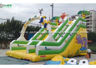 Large Commercial Grade Jungle Inflatable Water Slides For Adults / Child