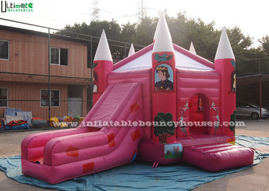 Pink Fairytale Jumping Castles Princess Palace Bounce House For Girls