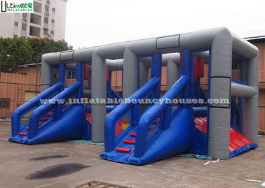Hit And Run Inflatable Outdoor Games Inflatable Obstacle Course With Repair Kits