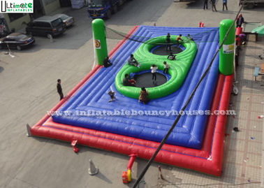 Super Interactive Inflatable Bossaball Field For Outdoor Sports