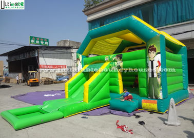 Ben 10 Kids Outdoor Party Large Water Slide Jumping Castle With Removable Pool