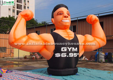 Giant Gym Muscle Man Advertising Inflatables for Parks / Square