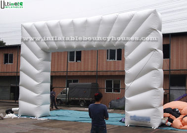 White Advertising Inflatable Archways Made Of 1st Class PVC Tarpaulin
