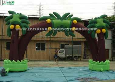 Tropical Coconut Tree Inflatable Archway , Inflatable Entrance Arch