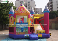 The Princess Inflatable Bounce House With Slide Made Of Lead Free PVC Tarpaulin