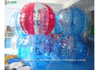 1.5 Meters Colorful Zorb Soccer Inflatable Bumper Balll For Adults , Red / Blue