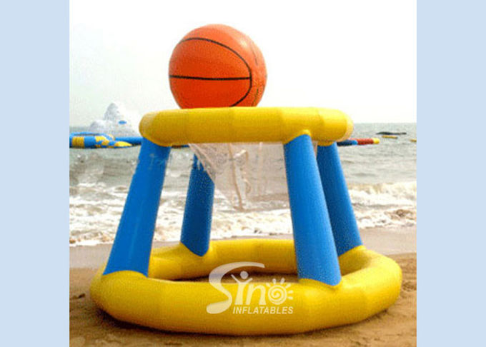Beach parties giant monster inflatable basketball hoop for kids water park chanllenge