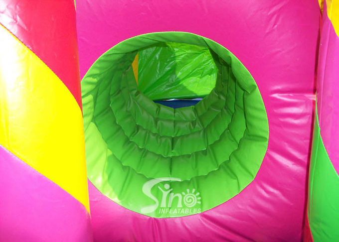 Outdoor Kids Inflatable Bouncy Castle With Slide And Pillars Inside Made Of Best Pvc Tarpaulin 1