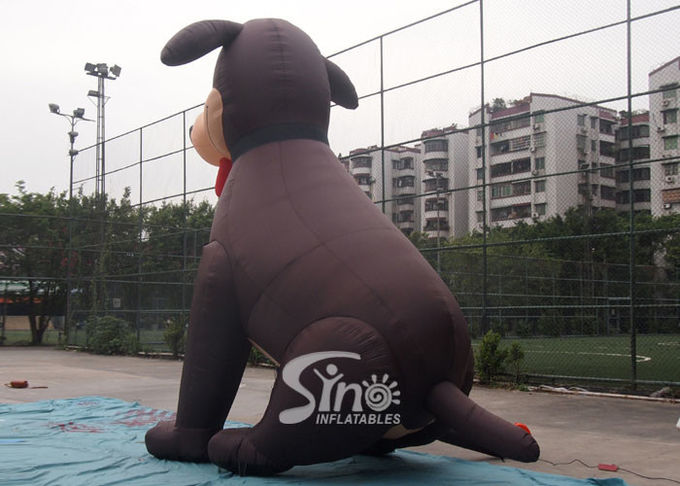 5 meters high lovely large outdoor puppy inflatable dog for advertising decoration