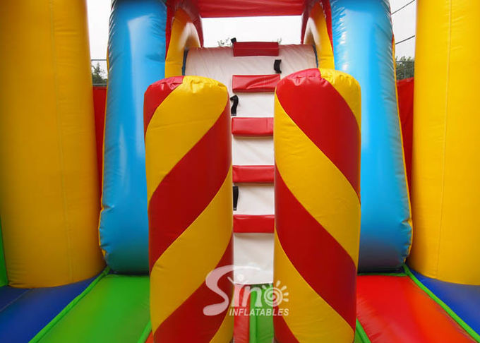 5in1 colorful commercial kids inflatable combo game with slide for outdoor from guangzhou inflatables